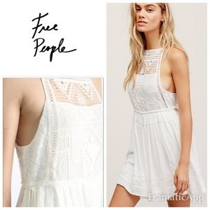 Free People Emily Crochet Top Mini Dress